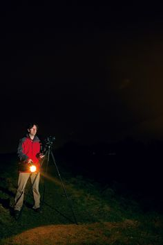 Night photography ideas: light painting your subject over ultra-long exposures