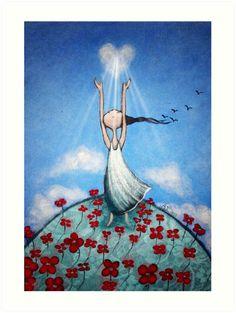 The Art of love by Amanda Cass by Amanda Cass Art Prophétique, Art Of Love, Prophetic Art, Ouvrages D'art, Heart Art, Whimsical Art, Belle Photo, Folk Art, Decoupage