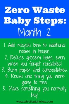 Zero Waste Baby Steps: Month 2   Whistle Pig Hollow