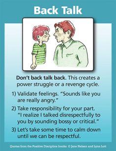Positive Discipline: Don't Back Talk Back
