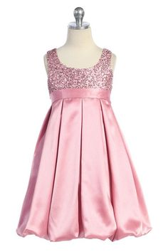 Pink sequined bodice