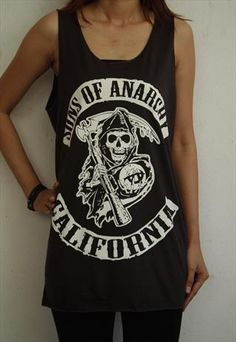 SONS OF ANARCHY CALIFORNIA WOMEN TANK TOP T-SHIRT VEST TEE 10