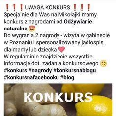 Więcej szczegółów na blogu i naszym fanpage na Facebooku! Zapraszamy  #kakaludek #konkurs #konkursnablogu #konkursnafacebooku #blog #nagrody #nagroda #zadarmo #poznań #polska #poznan #poland #medycynachińska #natura #odżywianie #naturalne #dieta #zdrowa #zdrowie