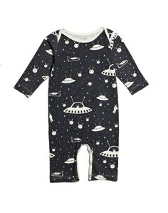 Winter Water Factory Long Sleeve Outer Space Romper at Noble Carriage
