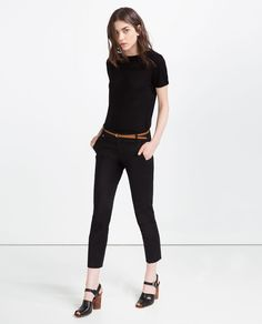 ZARA - WOMAN - MID-RISE TROUSERS WITH BELT