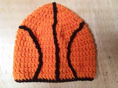 Basketball beanie NCAA March Madness by KnottyNatalie on Etsy, $25.00
