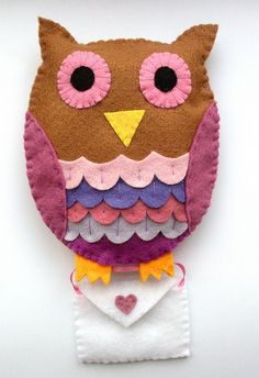 Felt Owl With Love Note
