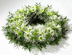 """Put a large candle or clear cylinder vase with """"goodies"""" of your choice in the center. Church Flowers, Funeral Flowers, Wedding Flowers, Grave Decorations, Flower Decorations, Cut Flowers, Silk Flowers, Funeral Tributes, Large Candles"""