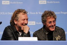 Roger Daltrey and Robert Plant Photos - Singers Robert Plant (L) and Roger Daltrey appear at a press conference to announce the Daltrey/Townsend Teen & Young Adult Cancer Program at UCLA on November 4, 2011 in Los Angeles, California. - Rock Icons Announce Teen Cancer Program at UCLA