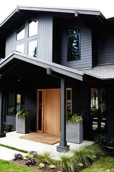 Love the exterior paint color - Sherwin Williams Iron Ore   via Bloglovin'