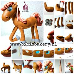 This cute horse is for Donna. Here is the pictorial how to make her yourself. Have fun! xxx Bibi #bibisbakery