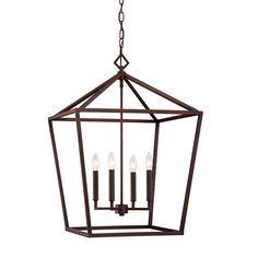Rubbed Bronze 20 Inch Four Light Pendant Millennium Lighting Lantern Pendant Lighting Ceil