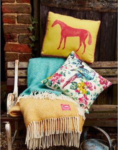 Discover our complete range of clothing & footwear at the official Joules site. Bed Cushions, Throw Pillows, Equestrian Decor, Padded Jacket, Joules, Little Houses, Cozy House, Home Accessories, Branding Design