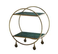Elegant og fin trolley i messing formet som en cirkel fra Madam Stoltz