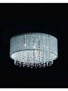 Hallway lights....Home Decor Crystals Drops Flush Mount