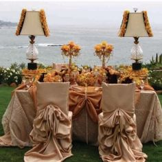 Awesome sweetheart table ideas! (image via Project Wedding) love these chair covers