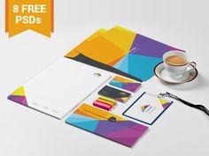 Foto: Mockups PSD de papelería para identidad corporativa gratis   recursos disenos plantillas photoshop branding diseno