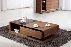 44 Awesome Wooden Coffee Table Design Ideas Match For Any Home Design . Finding the best wooden coffee tables for your home includes certain criteria and steps you ought to pursue to promise you pick the absolute best one. Sofa Table With Storage, Coffee Table With Drawers, Walnut Coffee Table, Cool Coffee Tables, Modern Coffee Tables, Modern Table, Centre Table Design, Tea Table Design, Coffee Design
