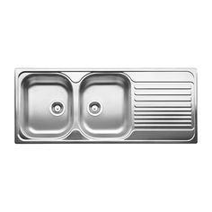 Blanco Double Sink With Drainboard : Stainless steel sinks, Stainless steel and Sinks on Pinterest