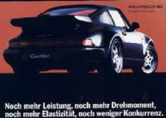 Porsche 911 Turbo 1994 German postcard from a set of 9 different ones