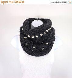 SALE Chunky Fair Isle Cowl Chunky Knit Cowl Chunky by Avaneska