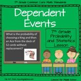 Dependent Events - 7th Grade Probability and Statistics
