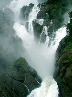 Breath taking waterfall in Goa, must visit place in Monsoon.