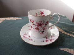 Royal Albert Demitasse Cup and Saucer, Countess, Pink and Red Flowers, Mint Condition by MySimpleDistractions on Etsy