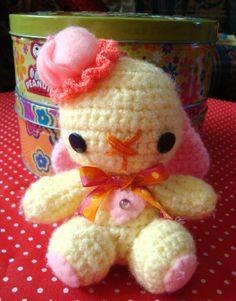 Cute Bunny Amigurumi Plush Doll Toy Little Spring от SpiritKawaii, $18.00