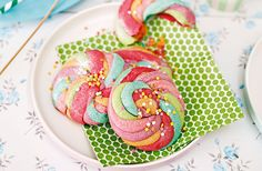 Keep kids entertained in with fun recipes - they will love making these colourful unicorn drops. Head to Tesco Real Food for more summer bakes for kids