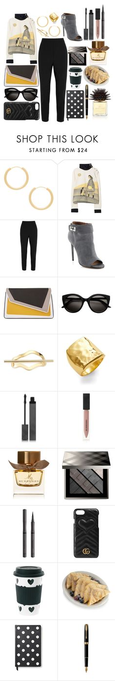 """Marni Long Sleeved Shirt"" by pulseofthematter ❤ liked on Polyvore featuring Elizabeth and James, Marni, Dolce&Gabbana, Givenchy, âme moi, Argento Vivo, Burberry, Gucci, Miss Étoile and French Toast"