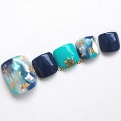 56 Trendy Ideas For Pedicure Azul Marino Pedicure Designs, Pedicure Nail Art, Toe Nail Designs, Toe Nail Art, Lilac Nails Design, Feet Nail Design, Korean Nail Art, Korean Nails, Cute Pedicures