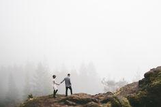Foggy Forest Engagement Photos: Nicole Mason Photography // www.nicolemason.co