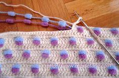 Pom-Pom crochet.. interesting effect... not sure whether I like it or not?