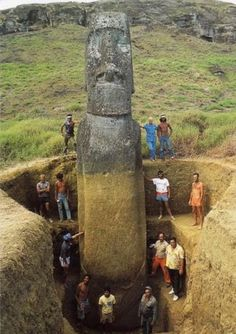 Easter Island Heads Have Bodies! - Check out this article.
