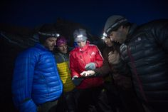 Valery and his crew (cameramen) are discussing the forthcoming jump Kilimanjaro, Africa, Winter Jackets, Base, Winter Coats, Afro