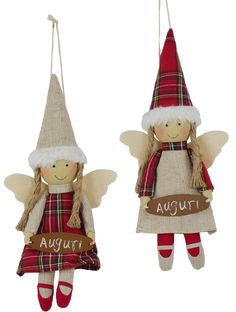 Angeli con appendino (disponibile in due varianti) Cross Crafts, Red Cross, Christmas And New Year, Dolls, Christmas Ornaments, Holiday Decor, Handmade, Pop, Projects