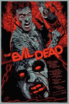 """francavillarts: """"THE EVIL DEAD ScreenPrint poster art by Francesco Francavilla EXCITED to finally reveal this! I provide a movie poster art for a classic of Horror movies, Sam Raimi's Cult THE EVIL. Fan Poster, Movie Poster Art, Print Poster, Horror Movie Posters, Horror Films, Arte Horror, Horror Art, Real Horror, Evil Dead 1981"""