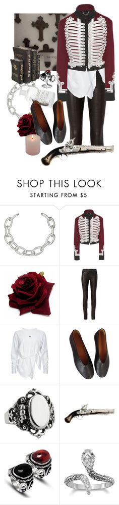 """84"" by randallflag ❤ liked on Polyvore featuring Jennifer Fisher, Burberry, rag & bone, Lemaire and Andante"