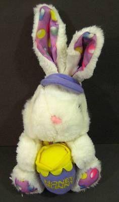 "14"" White HONEY BUNNY Rabbit Easter Plush TB Trading Stuffed Animal Toy B159"