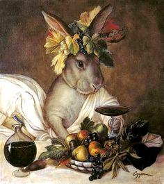 Bunny Bacchus by Melinda Copper