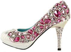 Honeystore Women's Diamond Rhinestone Satin Pump Pink 3.5 B(M) US Honeystore,http://www.amazon.com/dp/B00E1XEK4E/ref=cm_sw_r_pi_dp_GFn6sb1RZ796M7XX