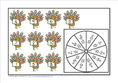 FREEBIE Turkey Subtraction Tens Facts Bump