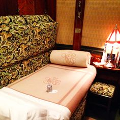 Our cabin made into a bed. (A Journey on the Venice-Simplon Orient Express Train)