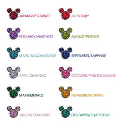 Mickey Mouse Birthstone Ring