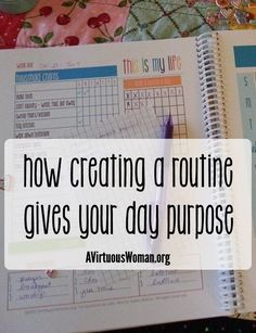How Creating a Routine Gives Your Day Purpose @ AVirtuousWoman.org #purpose #busymoms