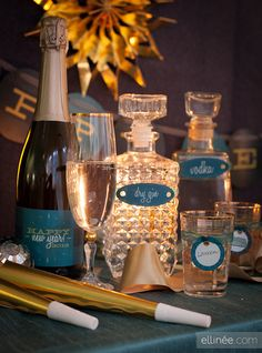 Gorgeous Printable Templates: New Year's Eve Party Labels
