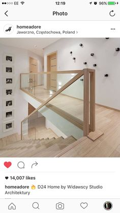 Modern Stairs // minimal wood stairs at the House Interior by Widawscy Studio Architektury House Stairs, Staircase Decor, Home Stairs Design, Minimalist House Design, Farmhouse Flooring Wood, House Interior, Glass Stairs, White Interior, Minimalist Home
