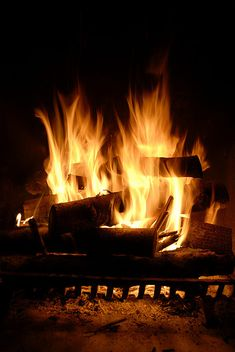 A cozy, warm fire when its cold outside. Cabin In The Woods, Into The Fire, Open Fires, Light My Fire, Winter Night, Cold Night, Fall Nights, Rainy Night, Outdoor Fire