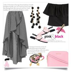 """Pretty in Pink and Black"" by onesweetthing ❤ liked on Polyvore featuring MARA, Mother of Pearl, Caroline Constas, Miriam Haskell, MICHAEL Michael Kors, Pembe Club, Michael Kors, Isabel Marant and tarte"